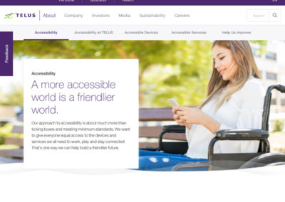 TELUS Accessibility Website