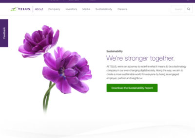 TELUS Sustainability Website