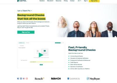 Certn Website