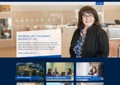 UBC VP Academic Website